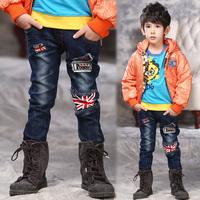 2015 UK Flag Jean Denim Children's England Flags Long Trouser Pants Girls/boy