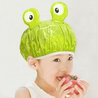 Kids Children Cute Cartoon Shower Waterproof Shower Caps Bathing Cap Bath Hat PVC shower cap 10pcs.lot