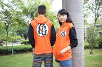2014 New Anime Dragonball Z Son Goku Cosplay Long Sleeve Hooded Sweatshirt Hoodie Zipper Jacket Coat Halloween Costume M-XXL