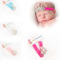 Retail Christmas Infant Tollder crown pearl Headband  Princess Crown headwear Baby girls hair accessories Drop shipping