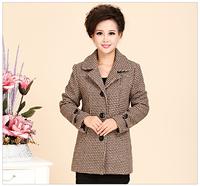 40 - 50 - 60 autumn outerwear quinquagenarian women's woolen women's clothes outerwear