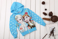 2014 hot selling spring and autumn period and the girls Snow and ice colors Long sleeve hooded fleece Free shipping