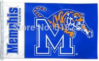 NCAA Memphis Flag 3x5 FT 150X90CM Banner 100D Polyester flag 1026, free shipping