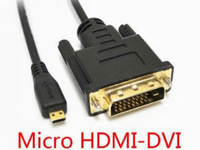 [FREE SHIPPING/EPACKET!] WHOLESALE 20pcs/lot Micro HDMI Male to DVI Male Monitor Cable for MOTO Phone and HDMI Tablet 6ft 1.8m
