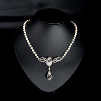 Thai natural Crystal Pearl Necklace 925 Silver expensive luxury atmosphere of private ordering
