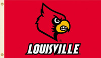 NCAA Louisville Flag 3x5 FT 150X90CM Banner 100D Polyester flag 1025, free shipping