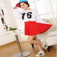 WOMEN skirts saias femininas saias shorts saia cintura alta candy colors women sun skirt #14F040
