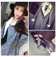 2014 fashion new long sleeve Zipper Jacket Outerwear Women Coat Cotton-padded Jacket