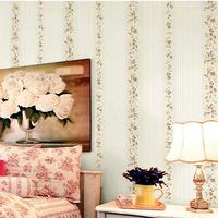Rustic non-woven wall paper roll throwing flower garden 3d bedroom wallpaper rattan papel de parede 3d floral infantil tapete