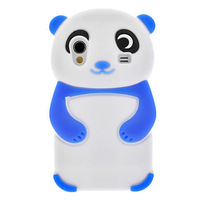 Hot Sale Free Shipping New Blue Panda  Silicone Back Case cover for Samsung Galaxy Ace S5830
