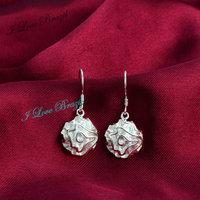 Hot Sale!Free Shipping 925 Silver Drop Earring,Fashion Sterling Silver Jewelry, Fashion Rose Earrings
