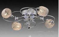 Modern LED k9 crystal chandeliers bedroom living room dining 4 head /6 head sphere chandelier