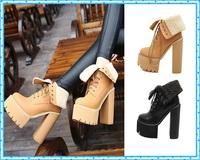 party boots women pumps winter autumn shoes women short boots high heels motorcycle women ankle fur boots platform boots C754