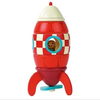 Free delivery, magnetic removal of assembly model, aircraft, rockets, a helicopter three, children's educational toys
