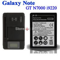 1x 2600mAh Battery fr Samsung Galaxy Note GT N7000 i9220 +1x USB LCD Universal Charger Batterij Bateria Accumulator Cargador