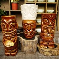 Popular Collection American Fashion Holiday Home Decoration  Bar Creative Articles Tiki Mug Hawaii Ceramic Cocktail Cup