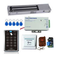 RFID access control kit  Access control with 400Lbs EM lock and remote control to open door  Free shipping