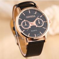 New Arrivals Fashion Latest Popular Luxurious Leather Watches Famous Round GENEVA Quartz luxury Men's Watches Wristwatch