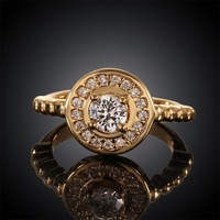 Free shipping! 2015 Latest gold wedding rings for women, Ladies crystal engagement rings USR597