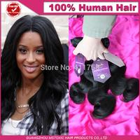10A Peruvian unprocessed virgin hair body wave natural black king Hair Extension rosa hair products Straight Human Hair Weaves