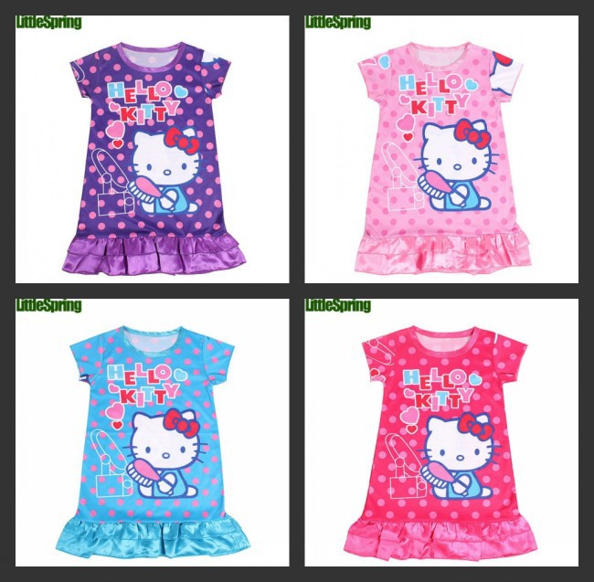 EMS/DHL Free Shipping Hot!Summer 2014 New Arrival!Summer Girls Hello Kitty Dress For Children(China (Mainland))
