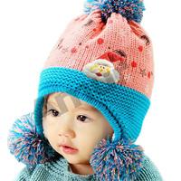 Amur Winter Children Kids Warm Thick Lovely knit striped Hat Cotton 5 color 6M-3Y
