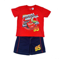 2015 Newest Summer Kids Suit Boy 2pcs Cars set with a short sleeve T-shirt + shorts, Children Clothes suit 5sets/lot-WYX-FT-56