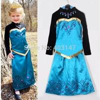 2pc Kids Costume Cosplay Frozen Costomes for Elsa Girls Christmas Fantasia Anime Infantil Femininas infantis Vestidos Dress