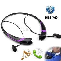 Bluetooth Earphones with MIC Wireless Headset HBS 760 Neckband Earpod Sports Headphone Stereo Handsfree for LG iPhone Samsung