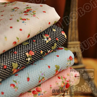 4 PCS 45CM*50CM polka dot strawberry cotton prints cloth Quilt Fabric Fat Quarter Tissue Bundle, Charm Sewing doll Cloth tecidos