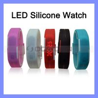 Waterproof  Men Women Digital LED Touch Sports Watch Silicone Bracelet Wrist Watch