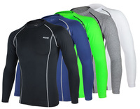 Tights Base Layer Men Long Sleeves Shirts Bodybuilding Fitness Clothing Running outdoors riding foot basketball sport Underwear