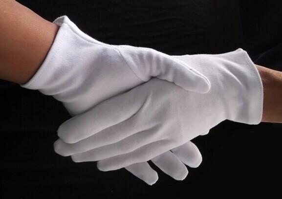 Антистатические 100% хлопок белый перчатки рабочий перчатки безопасный перчатки хлопок перчатки антистатические