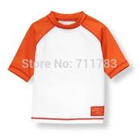 Retail! New name brand kid boy short sleeve rash guard. UPF 50+, free shipping
