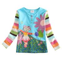 ELSA dress autumn new foreign trade children's clothing original baby girls embroidered garden girls t shirt