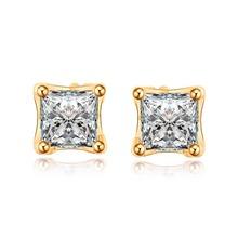 ERZD512 18k Gold Plated Square Fashion Unisex Fine Stud Earrings For Men Women wholesale