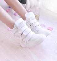 Sapatos Femininos Sapatilha Fashion Wedge High Heels Sneakers Women High Top Platform Sport Shoes Woman Tenis White Black