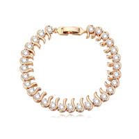 new brand design woman fashion 18K gold bracelet TOP beautiful watery Zircon Bangle Bracelet 110781