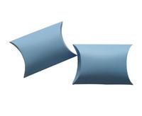 "Free Shipping 50pcs Small Blue Matt Jewellery Christmas Gift Pillow Box Favor Boxes 8.5x6.5cm(3.3""x2.6"")"