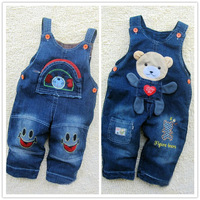 Retails (12-24Months) Children kids Baby Girl's Boy's Jeans Romper Overall Demin suspender trousers Jumper pants Freeshipping