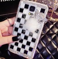 Luxury Bling Diamond Rhinestone Crystal Fox Case Cover For Samsung Galaxy Note 4