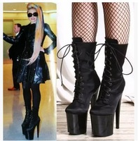Hot ! 2014 New Lady GaGa Sexy Stage Shoes/ 20CM Fine High-Heeled Short Boots(Size 35-42) 226