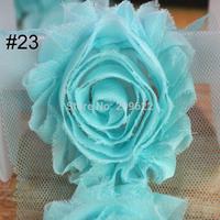 Chiffon Lace Flower Trims, 6CM Chiffon Fabric Hair Accessory, Shabby Chic Frayed Flowers