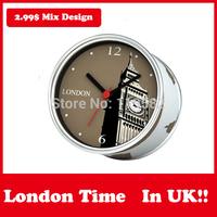 Tourist Souvenir Travel Clock London City Wall Clocks Gift in Magnetic Table Desk Clock Mix Design Paris USA Clocks Moq 100PCS
