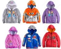 Frozen Elsa & Anna Princess Kids Girls Vestidos Hoodies Jacket Cars Planes Hooded Coat Clothing