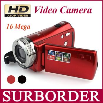 """Hd цифровой видеокамера высокое разрешение видеокамера 720 P 16 14.0-мегапиксельная 2.7 """" TFT жк-дисплей 16:9 16x цифровой зум рекордер"""