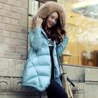 2015 Limited Zipper Winter Coat Winter New Women's European Station Down Jacket Women Long Capes A Word Version Of Collar Waist