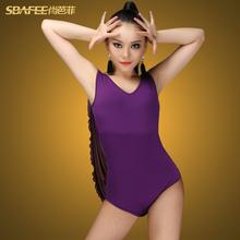 Shang Bafei new adult sleeveless jacket L170 Female Latin dance exercise coats Jumpsuit