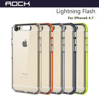 Original ROCK Lightning Flash Transparent cover for iphone 6 case 4.7