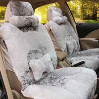 Winter cushion down thermal cushion plush car seat cushion leaves flower quality pulvinis